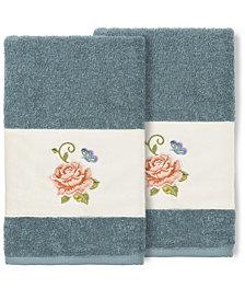 Linum Home 100% Turkish Cotton Rebecca 2-Pc. Embellished Hand Towel Set