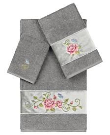 100% Turkish Cotton Rebecca 3-Pc. Embellished Towel Set