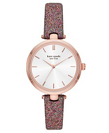Kate Spade New York Women's Holland Multicolor Glitter Leather Strap Watch 34mm