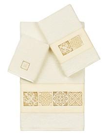 100% Turkish Cotton Vivian 3-Pc. Embellished Towel Set