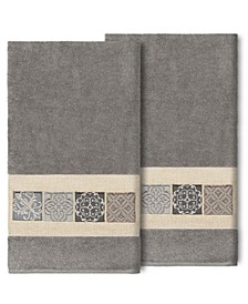 100% Turkish Cotton Vivian 2-Pc. Embellished Bath Towel Set