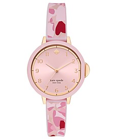 Women's Park Row Pink Silicone Strap Watch 34mm