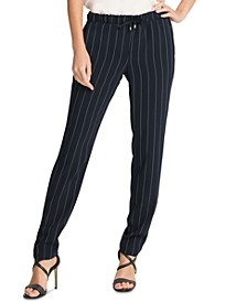 Pinstriped Pull-On Pants