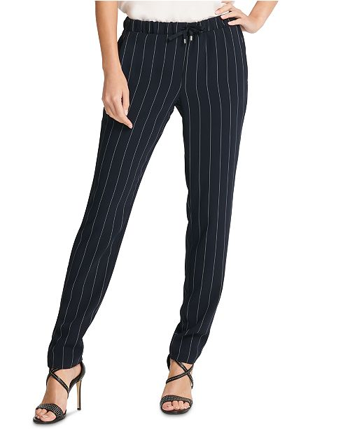DKNY Pinstriped Pull-On Pants