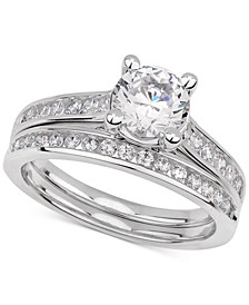 GIA Certified Diamond Bridal Set (1-1/2 ct. t.w.) in 14k White Gold