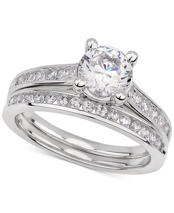 GIA Certified Diamonds  GIA Certified Diamond Bridal Set (1-1/2 ct. t.w.) in 14k White Gold