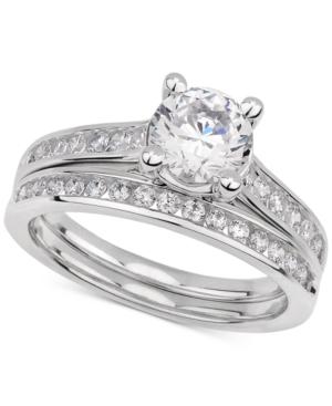 Gia Certified Diamond Bridal Set (1-1/2 ct. t.w.) in 14k White Gold