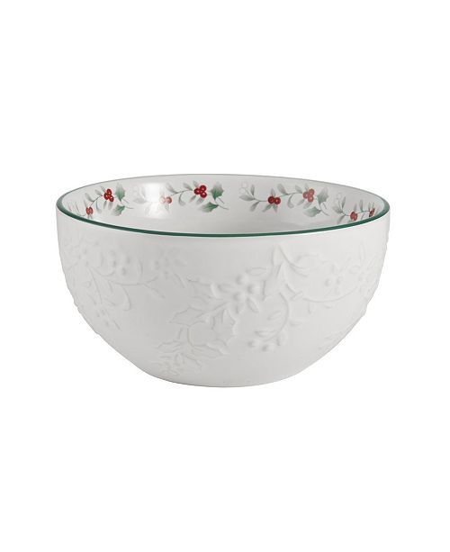 Pfaltzgraff Winterberry Embossed Soup Bowl