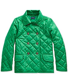 Big Girls Double-Breasted Quilted Jacket