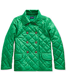 Polo Ralph Lauren Big Girls Double-Breasted Quilted Jacket