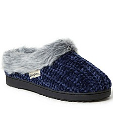 Women's Chenille Rib Knit Slippers Clog, Online Only