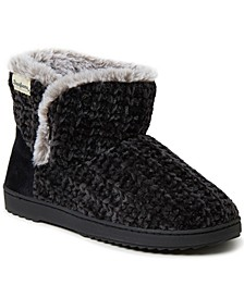 Women's Chenille Knit Slipper Boot, Online Only