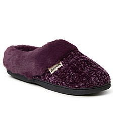 Women's Cable Knit Chenille Clog Slipper, Available in Wides, Online Only