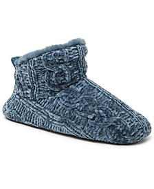 Women's Cable Knit Chenille Slipper Bootie, Online Only