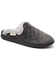 Women's Quilted Velour Scuff Slippers, Online Only