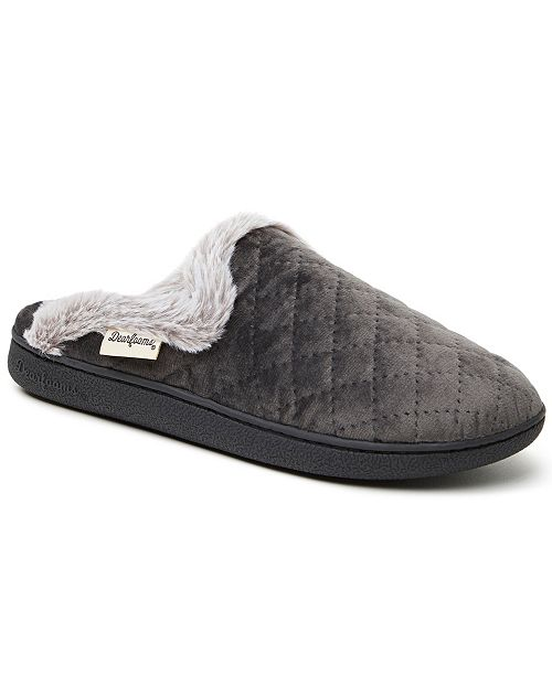 Dearfoams Women's Quilted Velour Scuff Slippers, Online Only