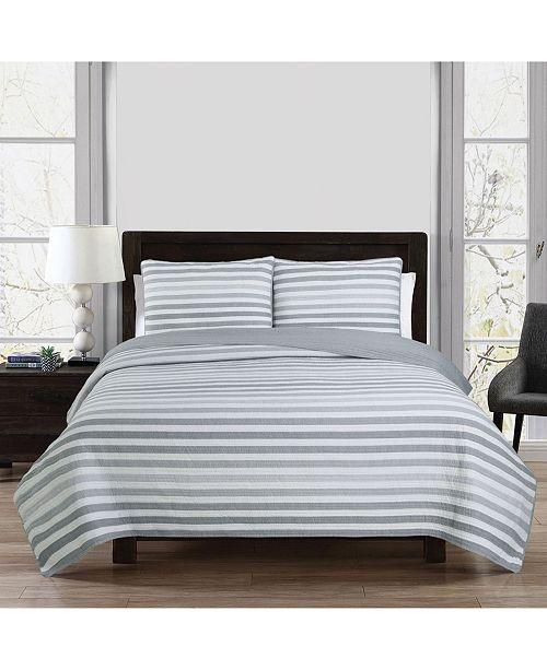 American Home Fashion Estate Sagaponack 3 Piece Full/Queen Quilt Set