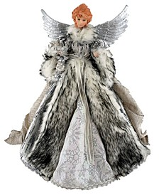 "16"" Siberian Snow Angel Tree Topper"