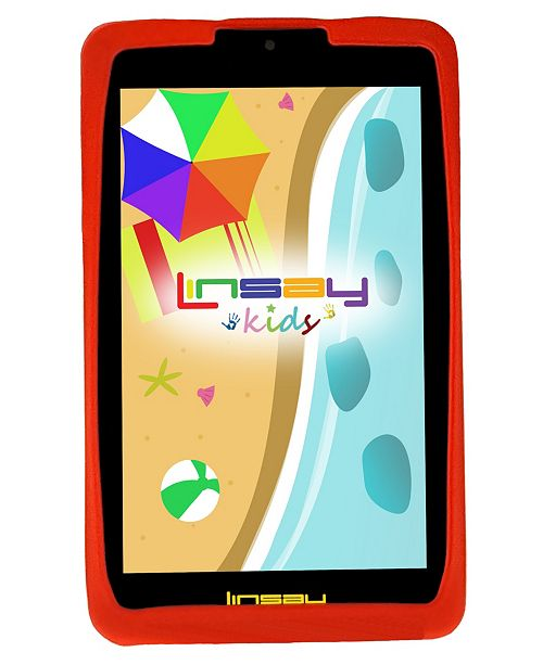 """LINSAY 7"""" New Kids Funny Tablet PC Android 6.0 with Defender Case Dual Camera"""
