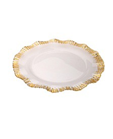 """12"""" Scalloped Chargers - Set of 4"""