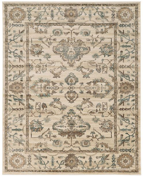KM Home Cantu Ivory/Cream Area Rug Collection