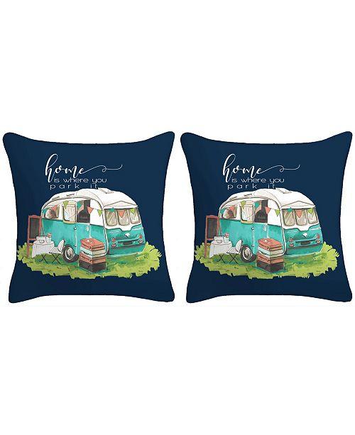 Jordan Manufacturing Set of 2- Life Is Where You Park It Toss Pillows