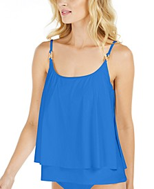 Layered Underwire Tankini Top