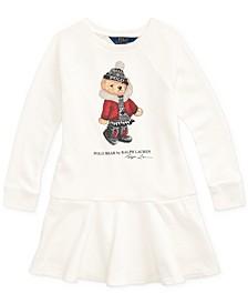 Little Girls Holiday Bear Terry Dress