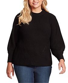 Trendy Plus Size Addison Puff-Sleeve Sweater