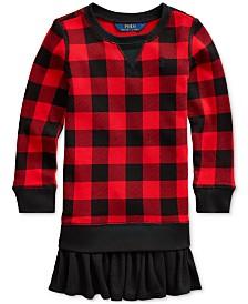 Polo Ralph Lauren Little Girls Cotton Terry Sweatshirt Dress
