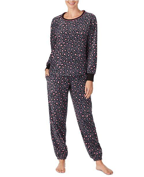 Cuddl Duds Printed Top & Bottoms Fleece Pajamas Set