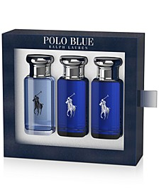 Men's 3-Pc. Polo Blue Eau de Toilette Travel Set