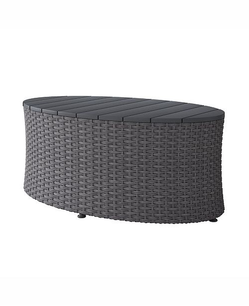 Corliving Distribution Brisbane Weather Resistant Oval Patio Coffee Table