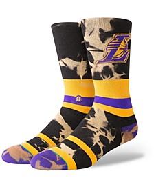 Los Angeles Lakers Acid Wash Crew Socks