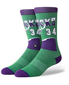 Ray Allen Milwaukee Bucks Hardwood Classic Jersey Crew Socks