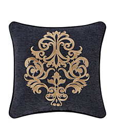 """J Queen Luciana 18"""" Square Embellished Decorative Throw Pillow"""