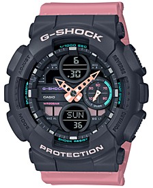 Men's Analog-Digital Pink Resin Strap Watch 45.9mm