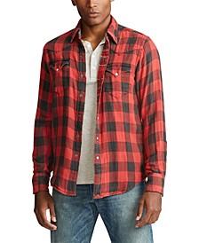 Men's Slim Fit Plaid Twill Shirt