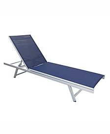 Distribution Gallant Weather Resistant Mesh Reclining Patio Lounger