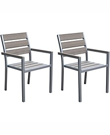 Gallant Sun Bleached Outdoor Dining Chairs, Set of 2
