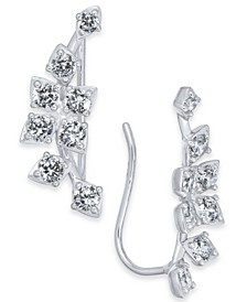 Silver-Tone Cubic Zirconia Climber Earrings, Created for Macy's