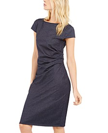 Ruched Denim Dress