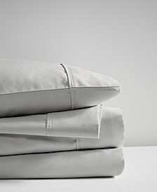 400 Thread Count King 4-Piece Wrinkle Resistant Cotton Sateen Sheet Set