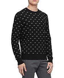 Men's Regular-Fit Logo Jacquard Sweater