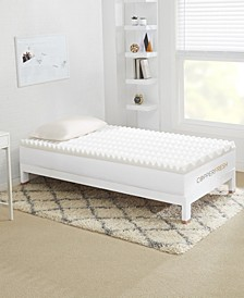 "CopperFresh Wave 3"" DORM Foam Mattress Topper Collection"