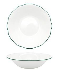 Amelie Forest Green Rim Soup/Pasta Bowl