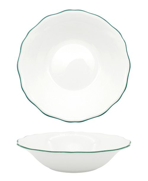 Twig New York Amelie Forest Green Rim Soup/Pasta Bowl