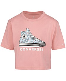 Big Girls Cotton Leopard-Print Sneaker T-Shirt