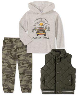 Quiltex Boys Toddler Baseball 2 Tees and 2 Shorts Set 4 Pc