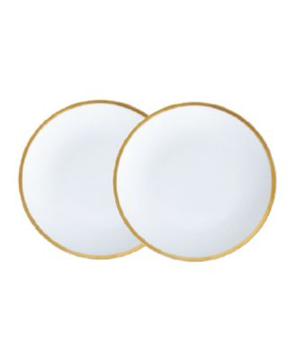 """Golden Edge 6"""" Bread and Butter Plates - Set of 2"""